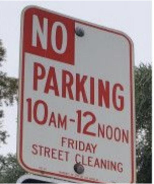 parking sign zero