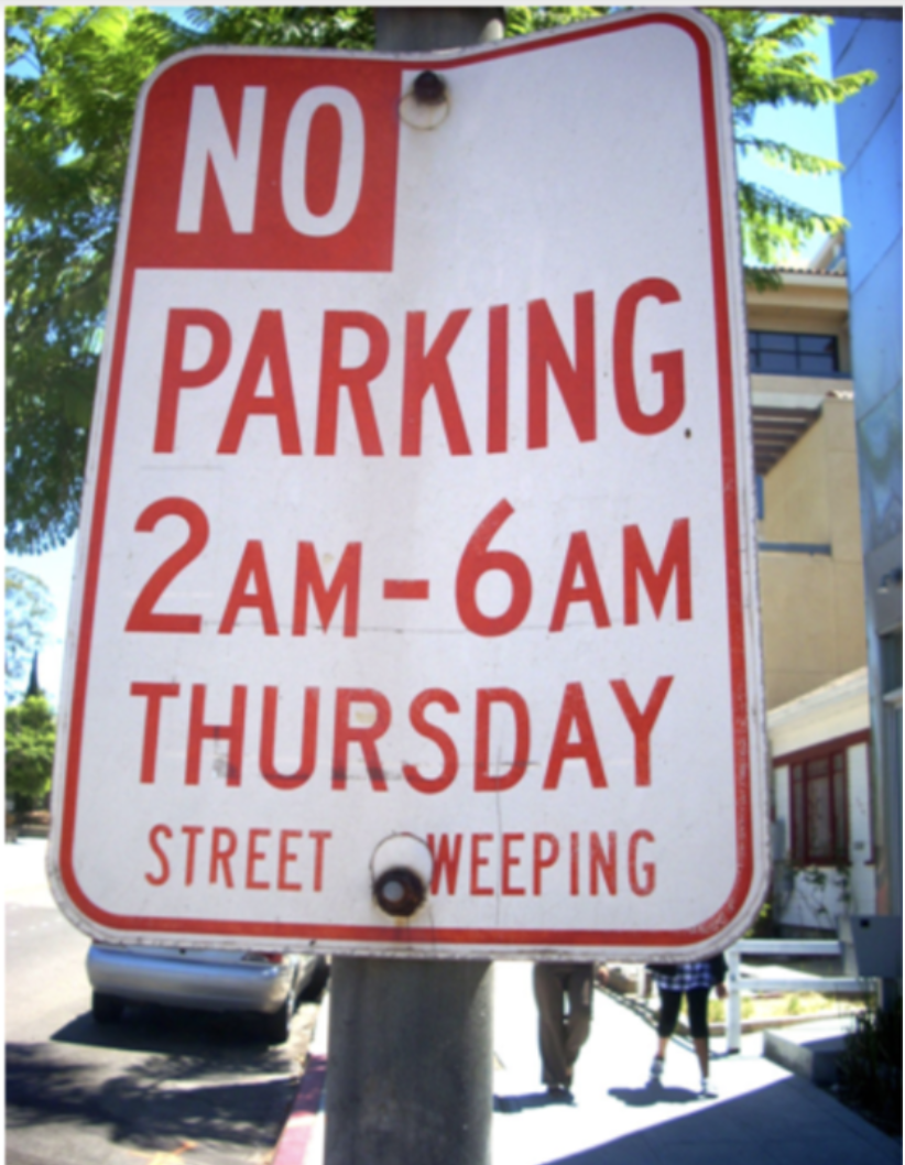 parking sign one