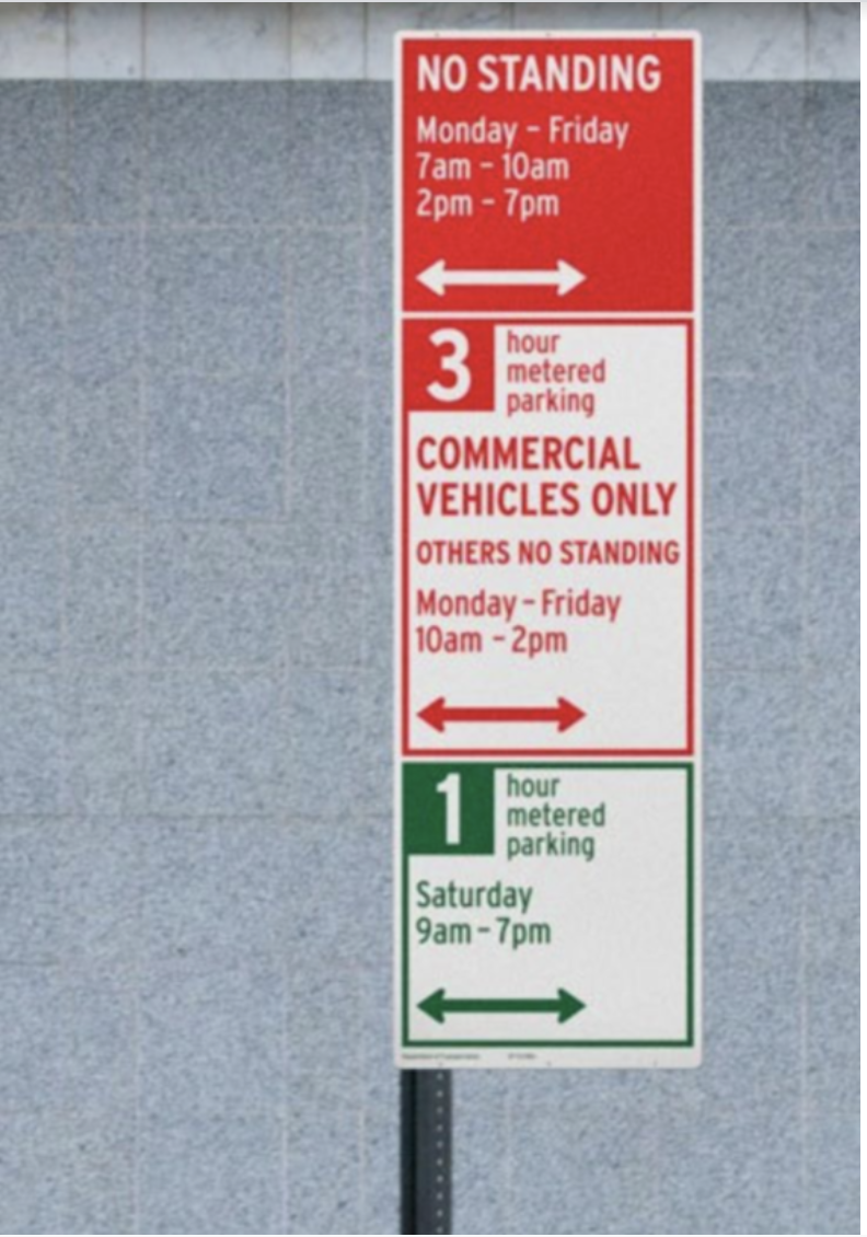 parking sign two